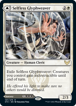 Strixhaven School of Mages: Selfless Glyphweaver